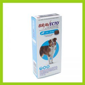 Bravecto Large Dog 20-40kg Chewable Tick & Flea Tablet Blue