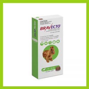 Bravecto Medium Dog 10-20kg Chewable Tick & Flea Tablet Green
