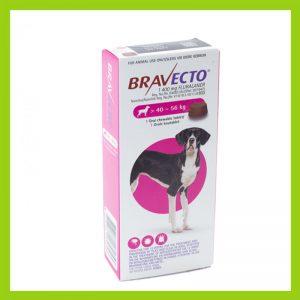 Bravecto X-Large Dog 40-56kg Chewable Tick & Flea Tablet Pink