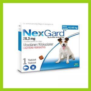 NexGard Medium Dog 4-10kg Chewable Tick & Flea Tablet