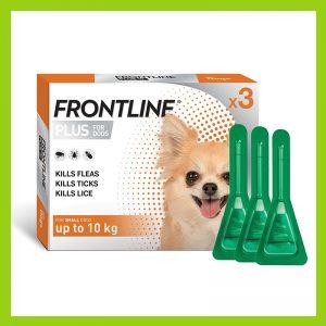 Frontline Plus Puppy & Small Dog 0-10kg Tick & Flea Treatment 10 x 0.67ml Orange