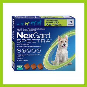 NexGard Spectra Chewable Tablet 7.6 – 15 kg