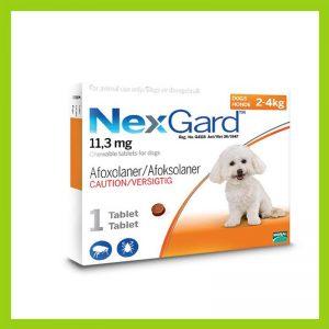 NexGard Small Dog 2-4kg Chewable Tick & Flea Tablet