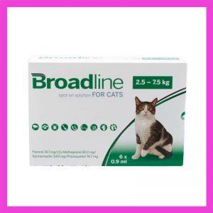 Broadline Broad-Spectrum Protection Solution For Cats 2.5kg -7.5kg