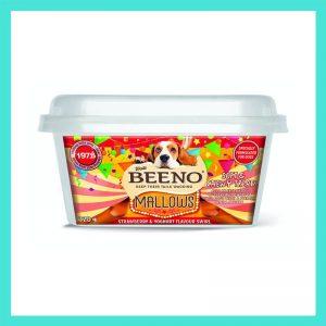 Beeno Mallows Strawberry & Yoghurt Flavoured Swirl Dog Treats 320g
